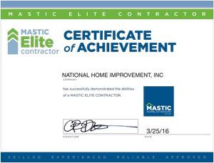 mastice preferred contractor 2016